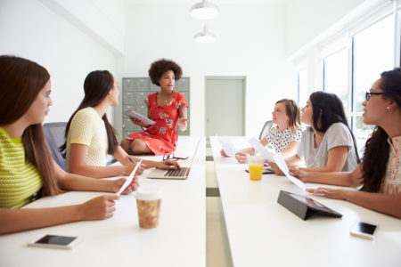 Change Group of women working together