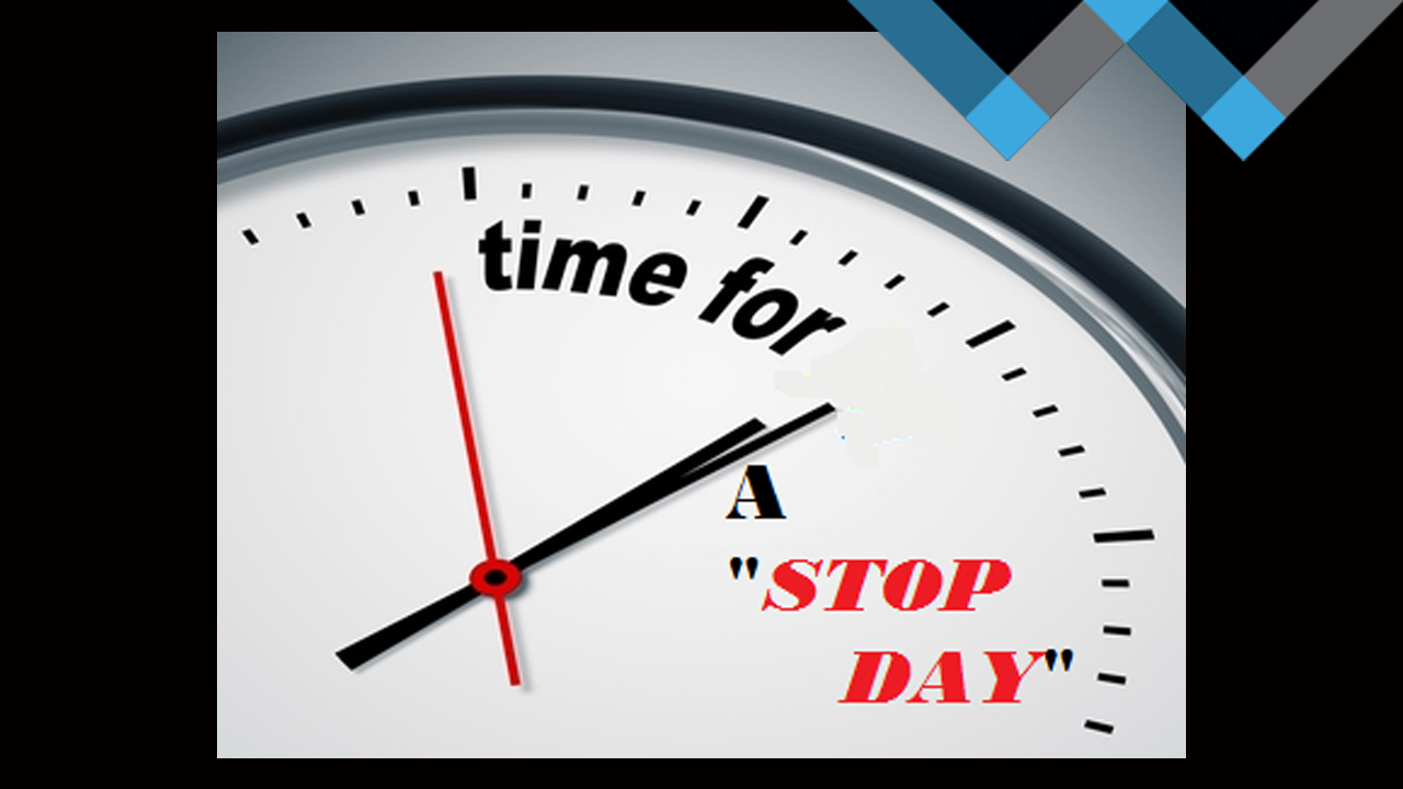 """Taking a """"STOP DAY"""" for Your Sanity"""
