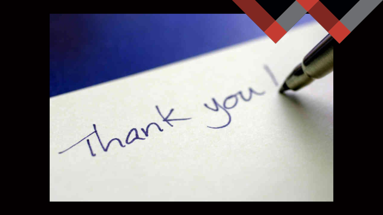 The Perfect Thank You Note