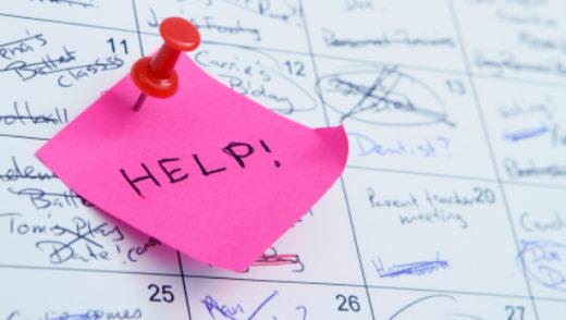 busy calendar with a