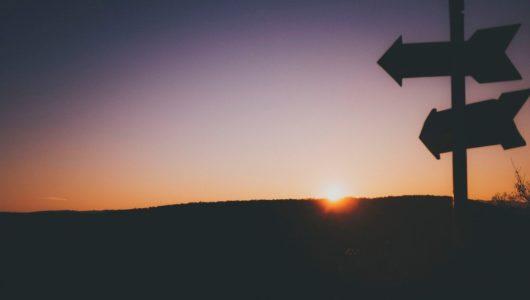 arrow pointing to horizon
