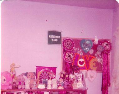 Bulletin board in maternity ward