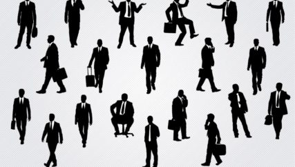 vector art of businessMEN in various poses