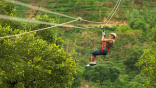woman during a Canopy Tour