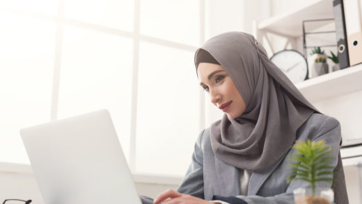 Happy muslim changing gears to writing
