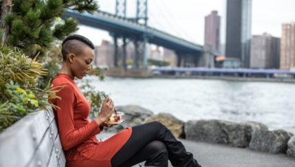 Beautiful young woman in NYC, Brooklyn