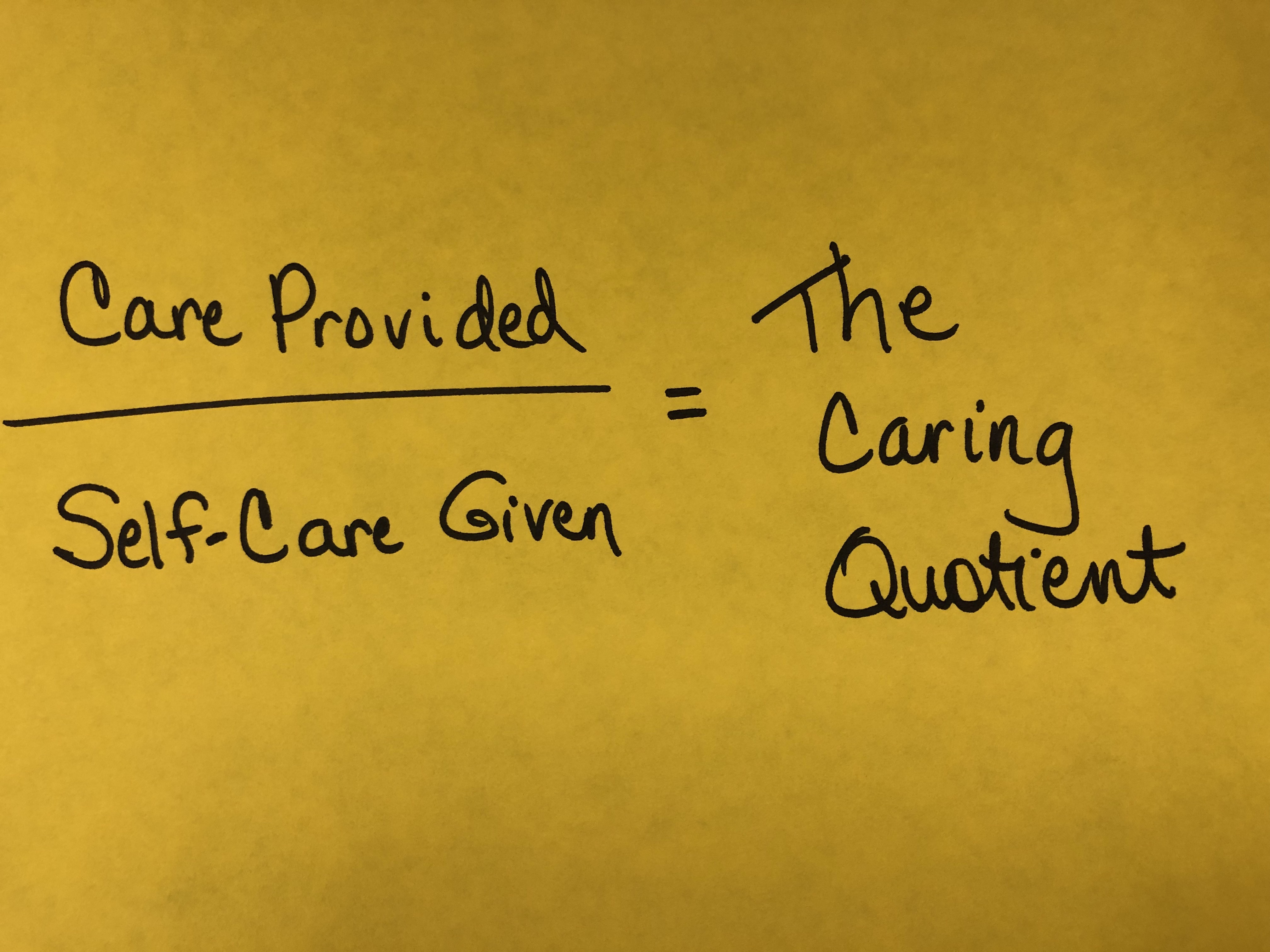 Caring Quotient-Part Three: Life-Hacks for Long Shifts
